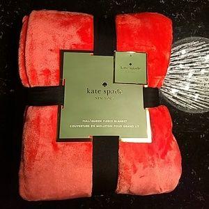 Kate spade coral (orange) ultra soft queen fleece